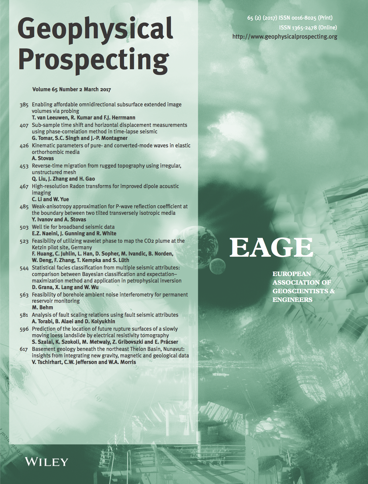 Template for submissions to Geophysical Prospecting