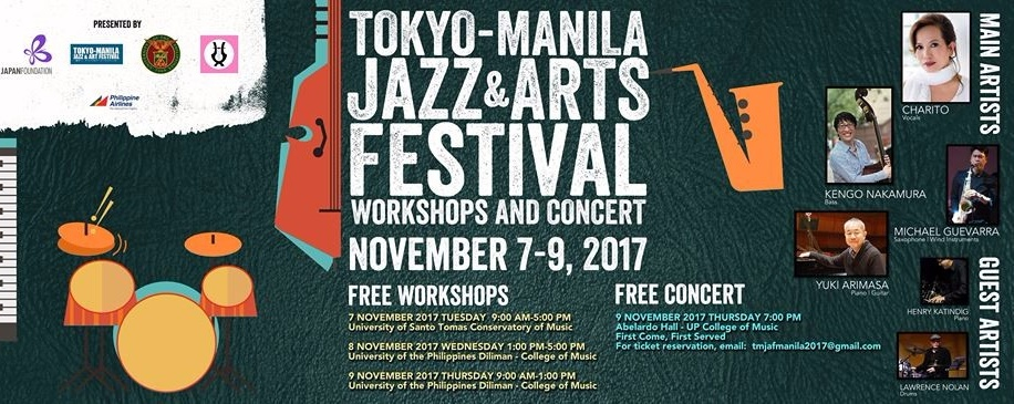 Tokyo-Manila Jazz and Arts Festival's Workshops and Concert