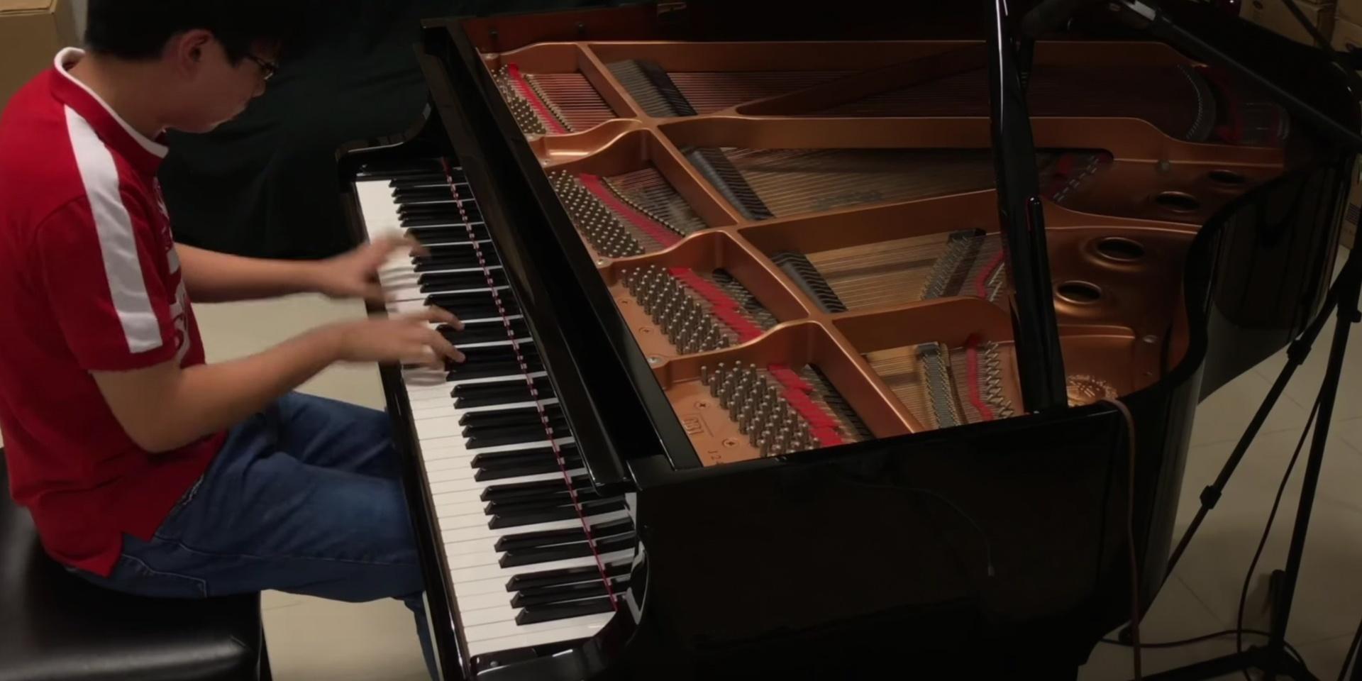 年仅16岁 本地钢琴才子Pianominion弹奏国庆组曲
