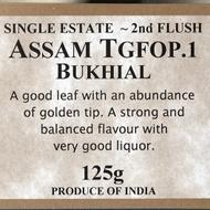 Assam Bukhial TGFOP 2nd Flush from The Drury Tea & Coffee Co. Ltd.