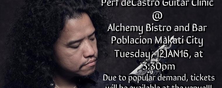 Perf De Castro Guitar Clinic