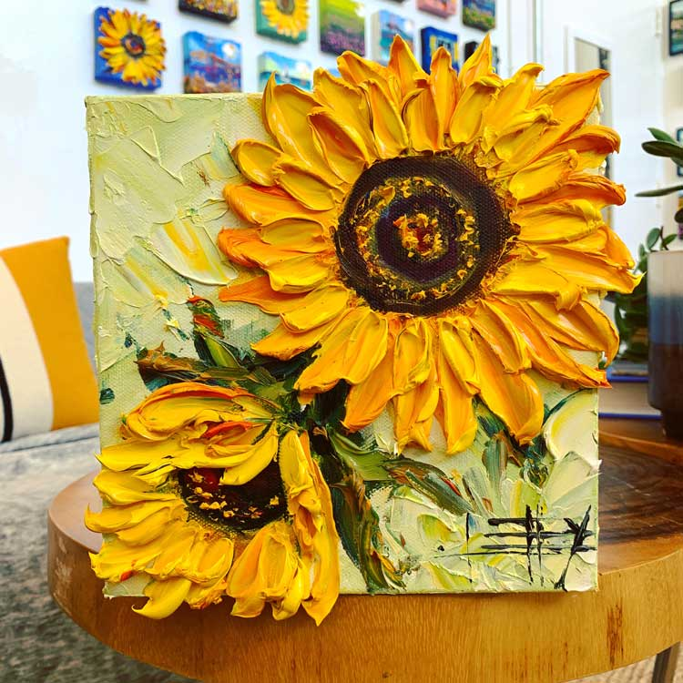 Lisa Elley Art Sunflower Series 2020