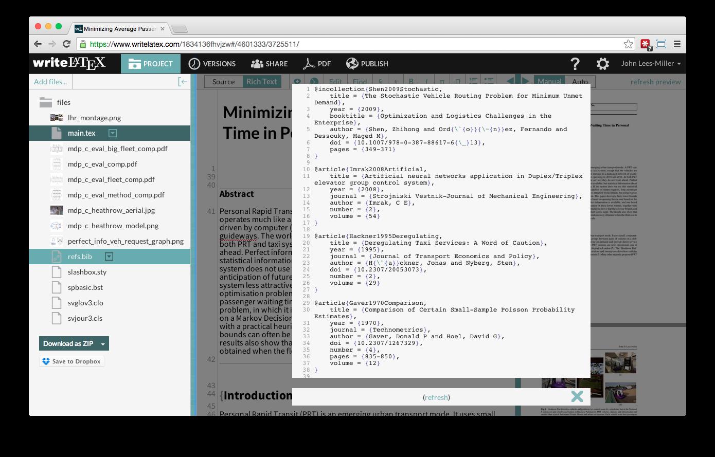 Overleaf Writelatex Mendeley reference bibliography import screenshot 6