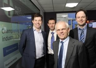 (from right to left) Charles Addison, Director of MIM, John Faulkner, President of MIM, Graham Yeomans, Vice-President of MIM and Jason Pitt, Director of MIM