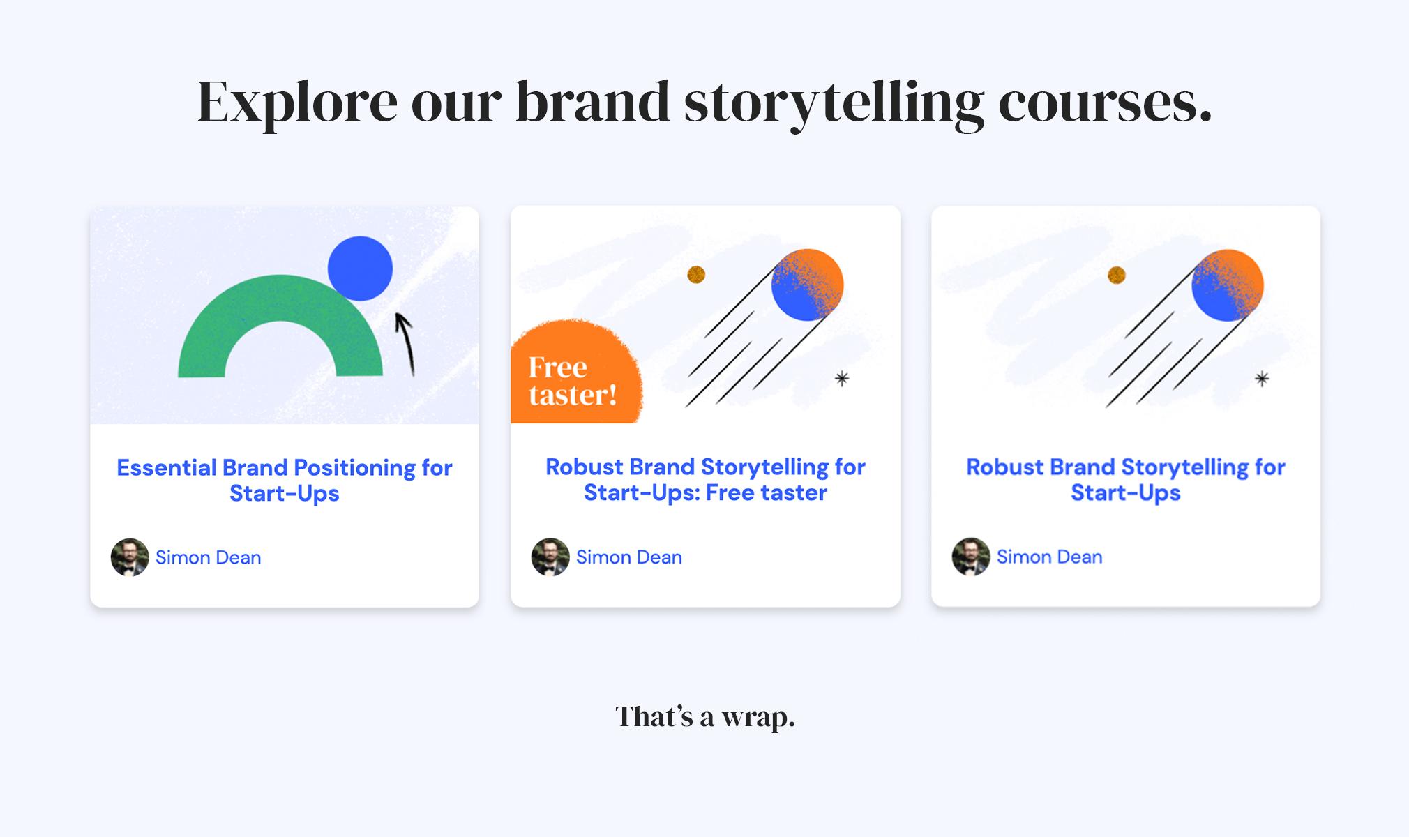STANCE brand storytelling workshops