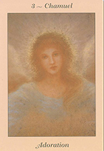 Archangel Chamuel, angel of Adoration from Angel Blessings Cards