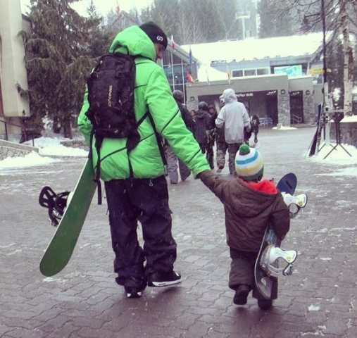 I love taking my little ones snowboarding..!