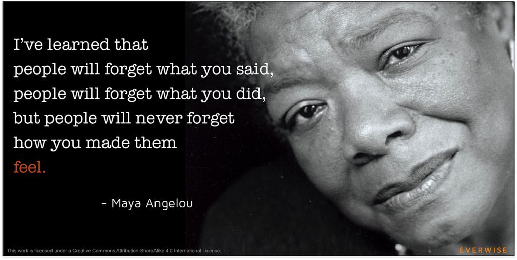 Maya Angelou with Quote