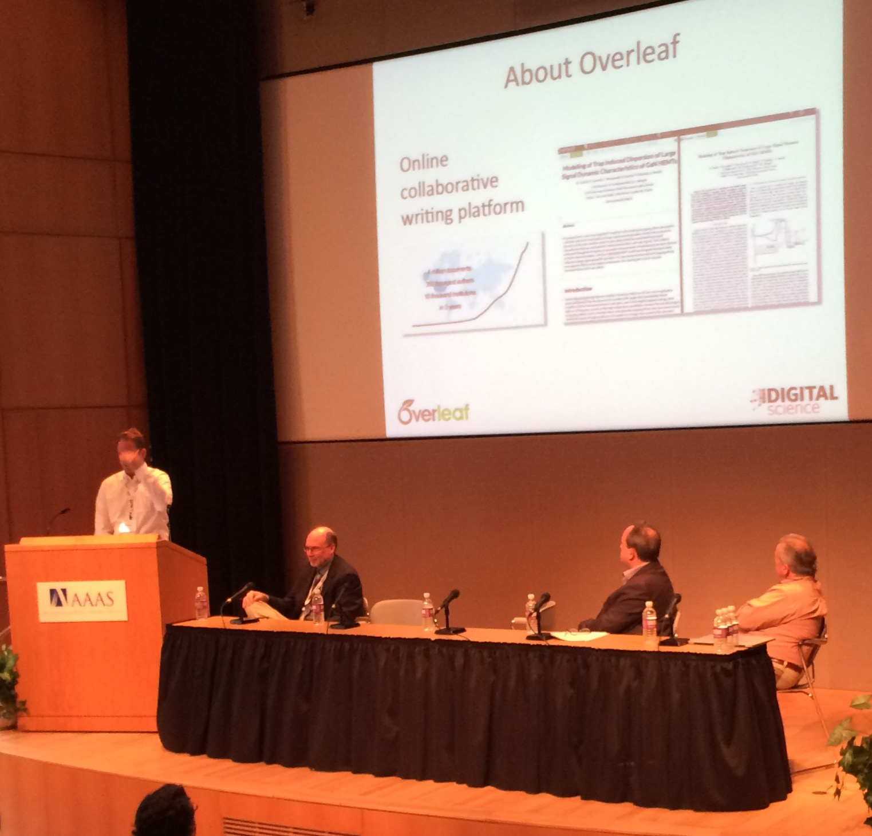 Overleaf ORCID AAAS meeting photo 2