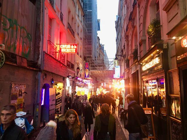 image: Jes Gamble in Paris. Photo: Riley