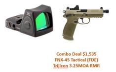 FN/Trijicon Combo Deal FNX-45 Tactical FDE / Trijicon Combo