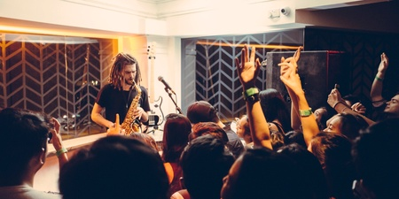 PHOTO GALLERY: French Kiwi Juice thrills The Powder Room with a multi-instrumental set