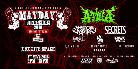 Attila, SECRETS and more to perform at one-day festival MAYDAY! Singapore 2018