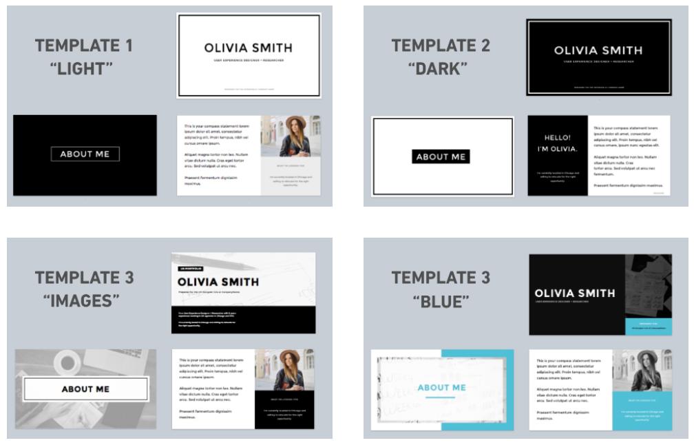 UX Portfolio Templates | The UX Academy