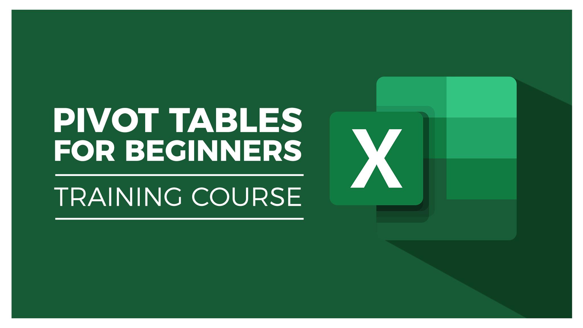 Pivot Tables Beginners