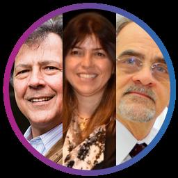 Joel Dutra, Marly Monteiro e André Fischer (USP)