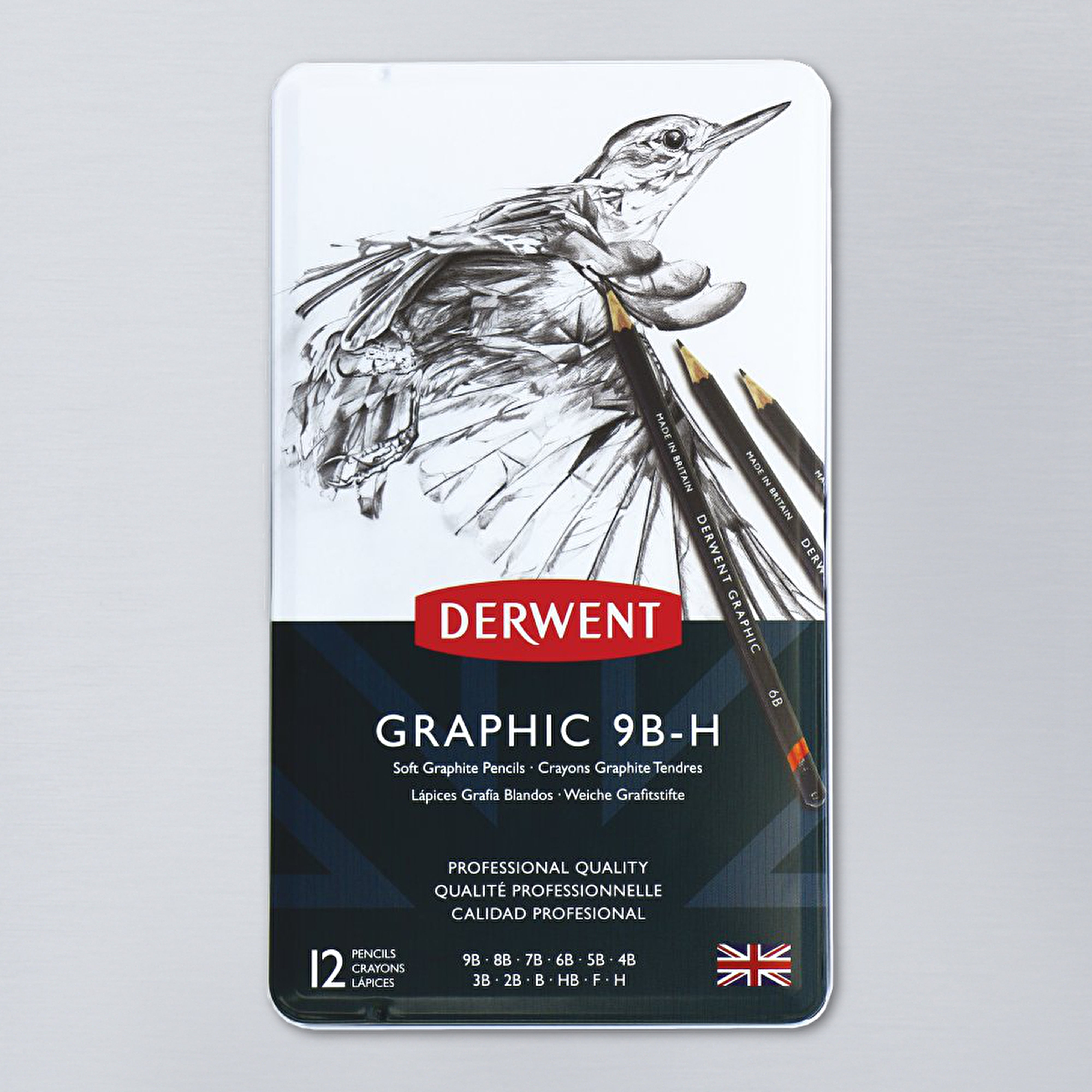 Derwent Soft Sketching Pencil Tin Set of 12
