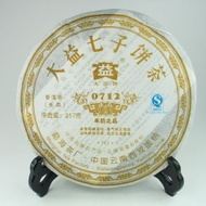 2007 Menghai Dayi 0712 Raw from Menghai Tea Factory