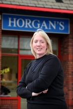 Elaine Halliwell, delighted new owner manager of Horgan's