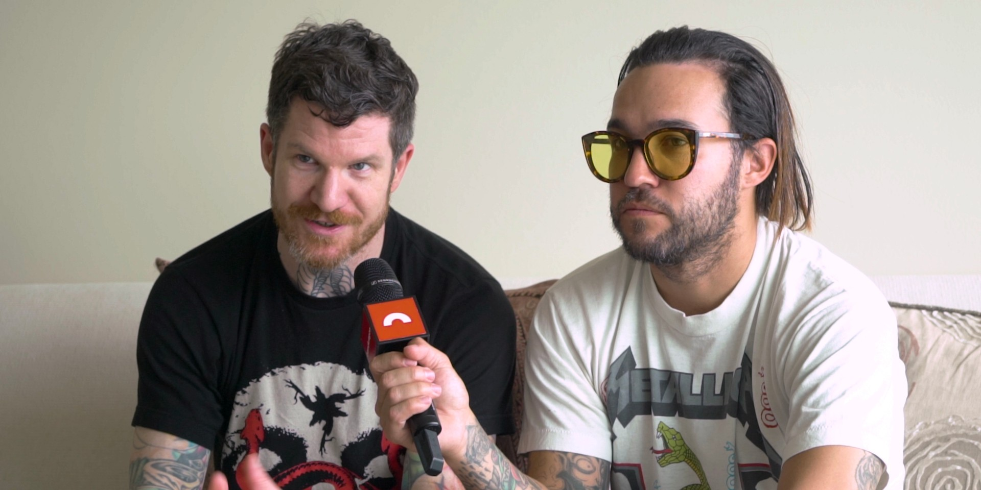 Pete Wentz and Andy Hurley talk the making of the latest Fall Out Boy album MANIA –watch