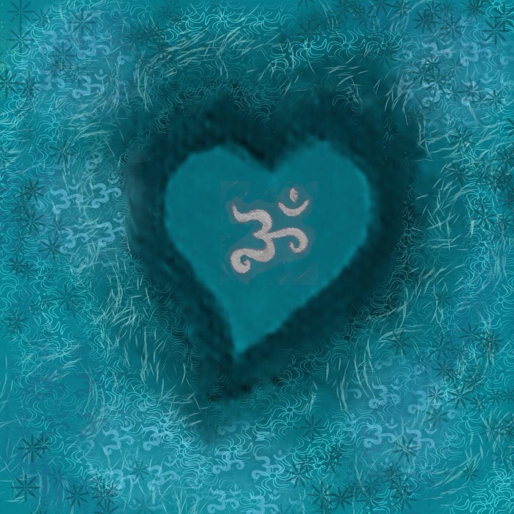 Turquoise Heart by Hilary Oak