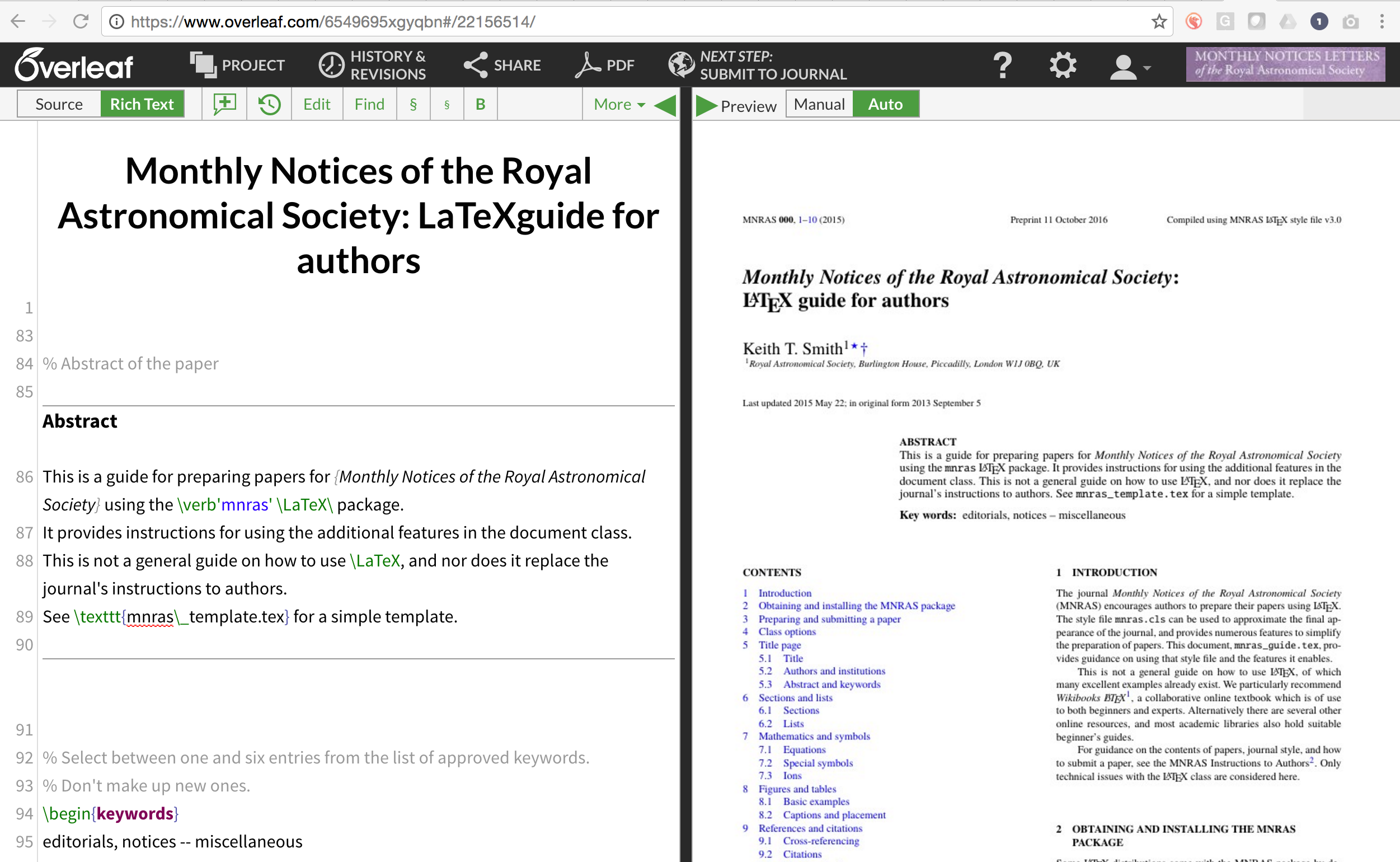 New Partnership Between The Royal Astronomical Society And Overleaf