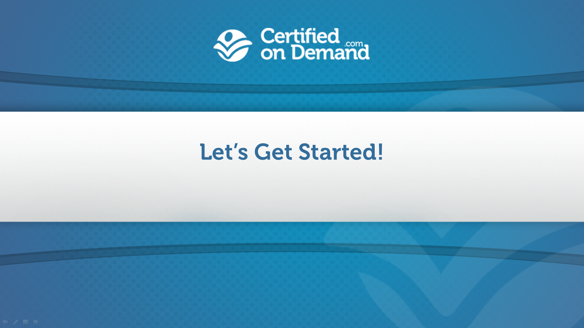Homepage Certifiedondemand
