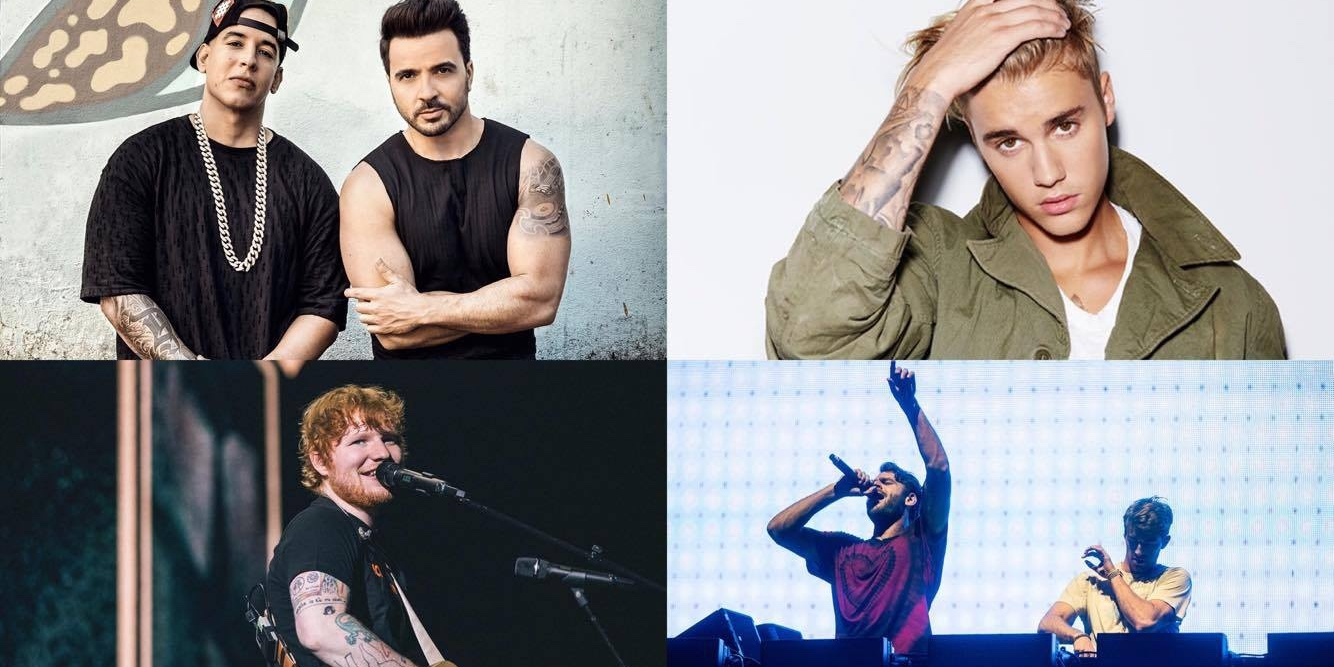 Ed Sheeran, 'Despacito', and The Chainsmokers top Spotify Philippines's year-end playlists