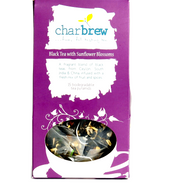 Black Tea with Sunflower Blossoms- 15 Tea Pyramids from Charbrew
