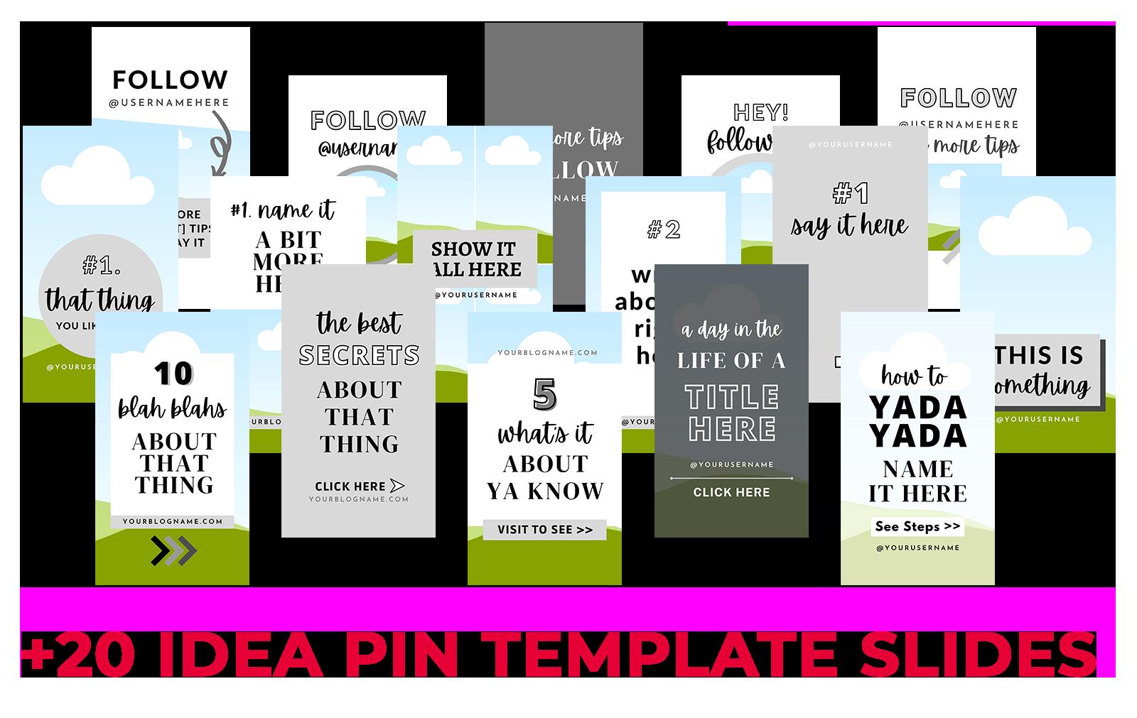 Idea Pin Slide Template Preview