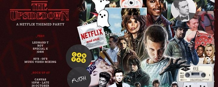 The Upside Down, a Netflix inspired Halloween party
