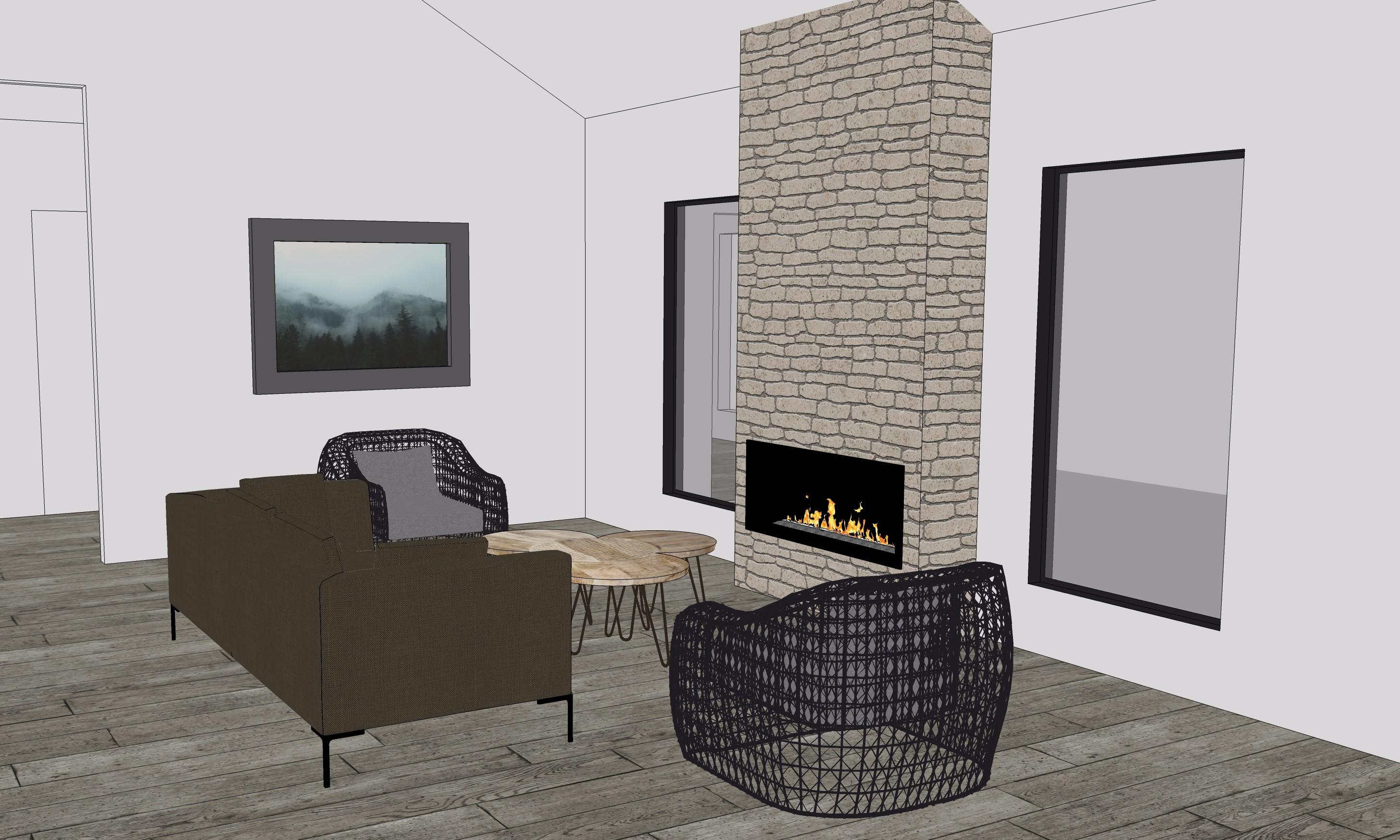 SketchUp Living Room Design