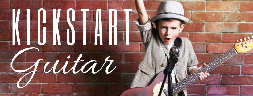 Kick start Guitar logo, learn guitar, guitar lessons for beginners