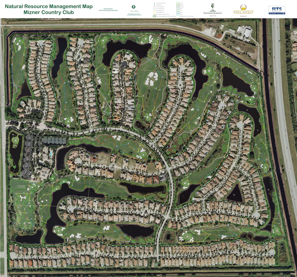 GPS Mapping of Mizner Country Club