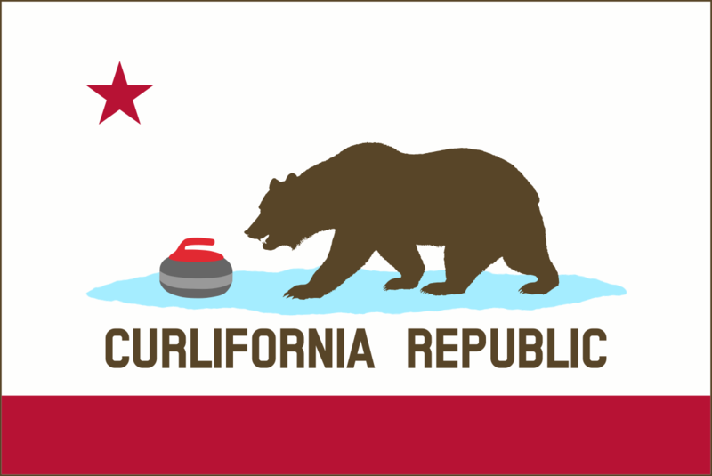 Curlifornia Flag with Ice Bear Outlinepng