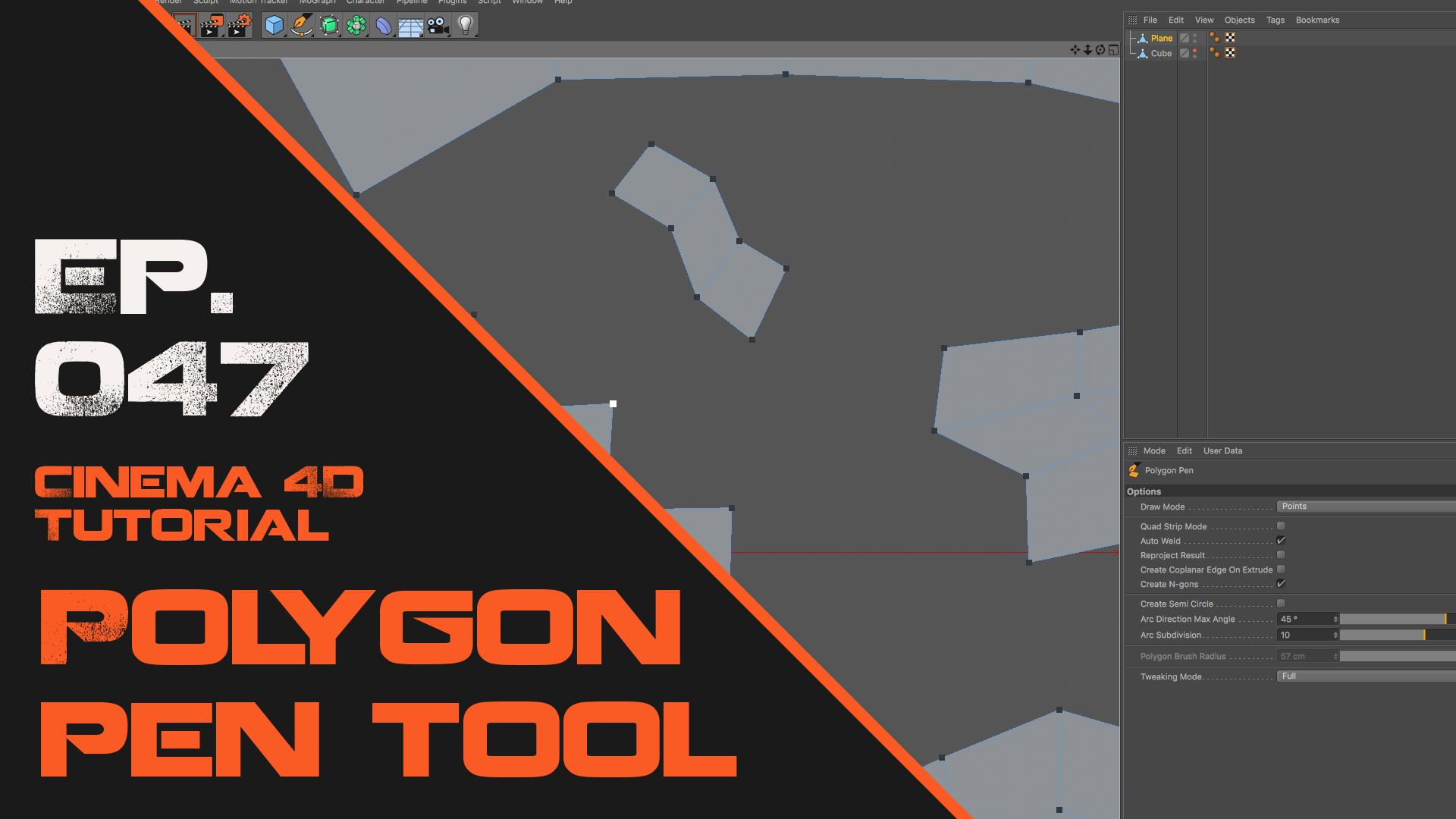4D Max Cinema learn the polygon pen tool in cinema 4d | astronomic skills