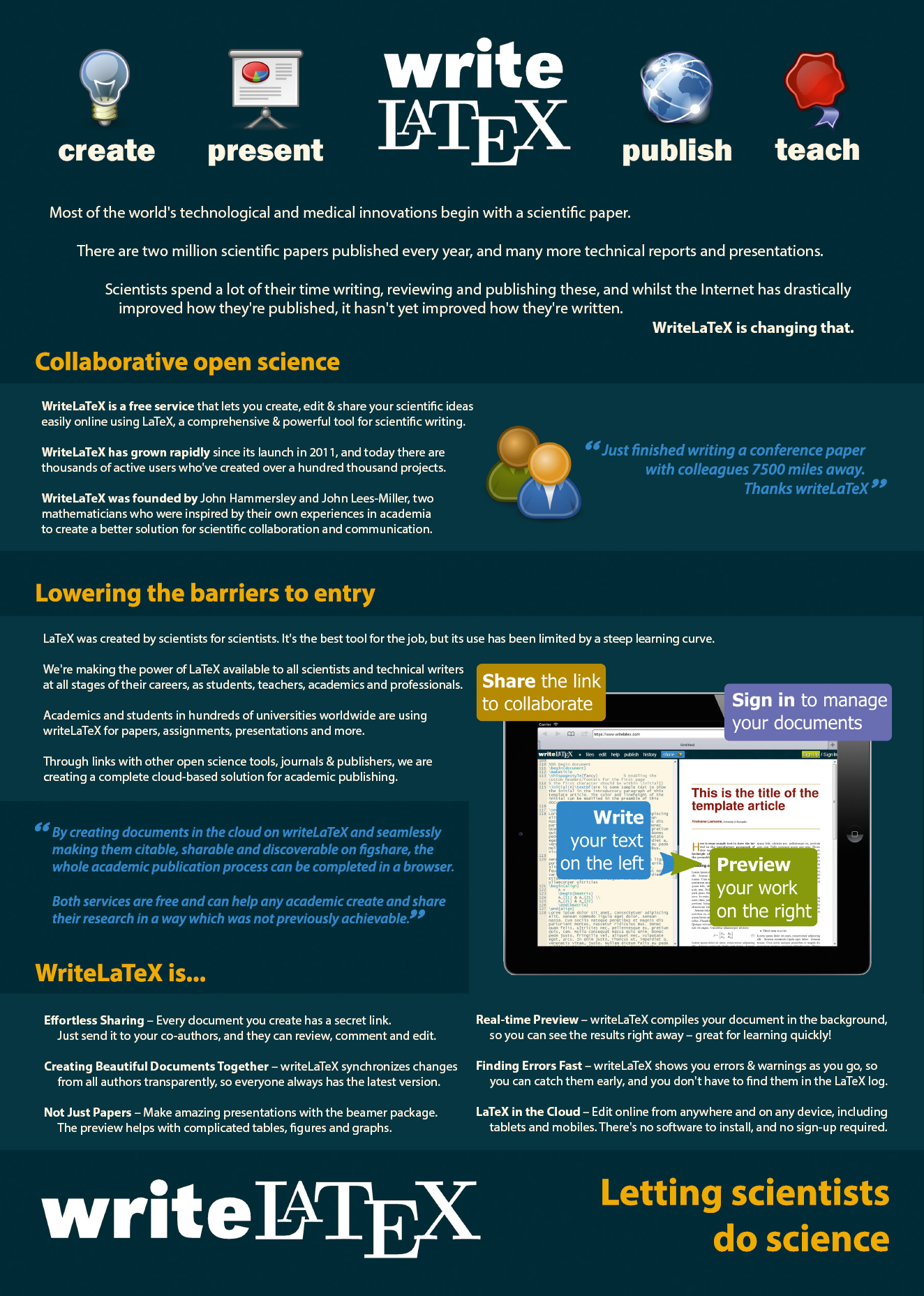 WriteLaTeX Collaborative Open Science Poster