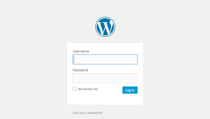 WordPress Login page - How To Set Up A Website Or Blog