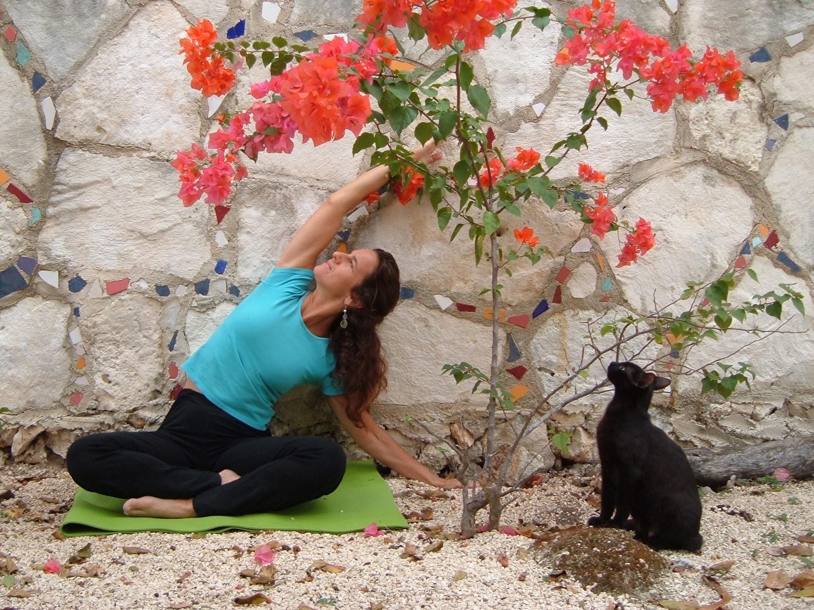 Stephanie with Junio Kitty Yoga Tulum, MX