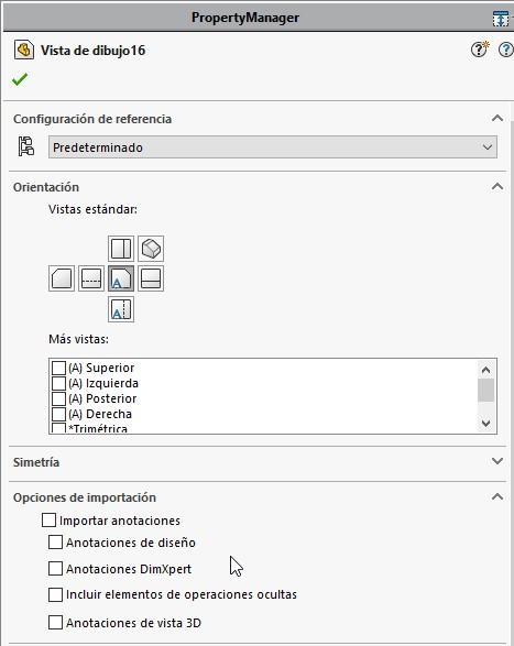 Activar la opción Importar anotaciones y Anotaciones de diseño