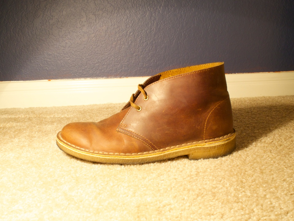 clarks desert boot beeswax size 9 49 grailed