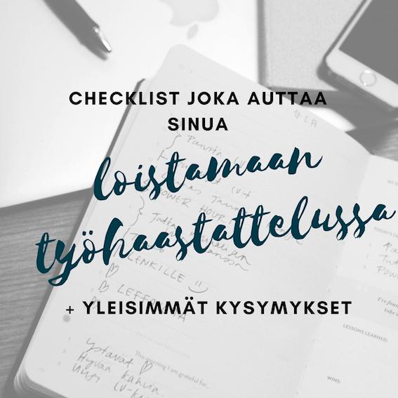 Ilmainen checklist, joka auttaa sinua loistamaan haastattelussa