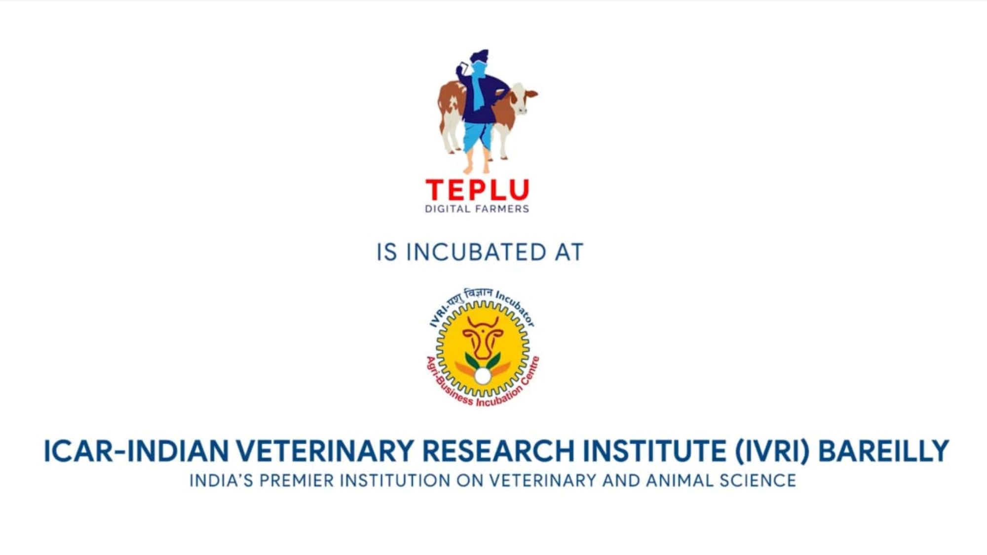 Teplu trains on clean milk in dairy farming. Incubated by IVRI and offers best course for dairy farm