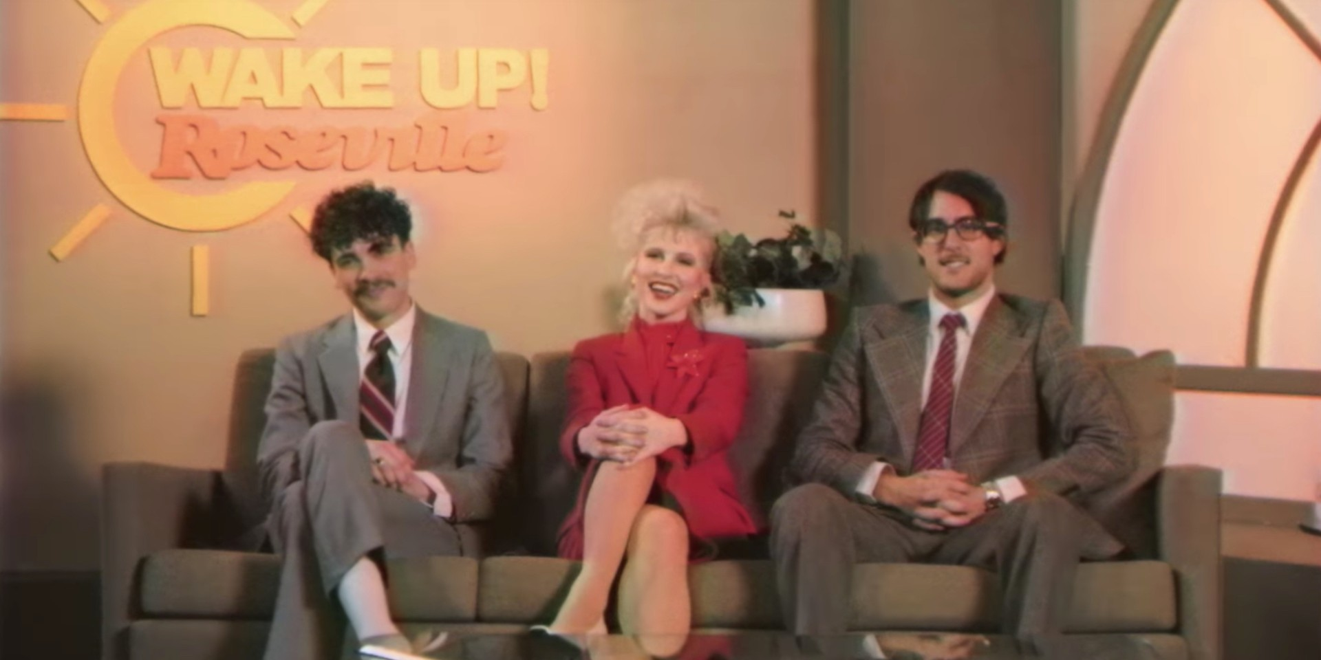 Paramore are television show hosts on the brink of losing it in the 'Rose-Colored Boy' video – watch
