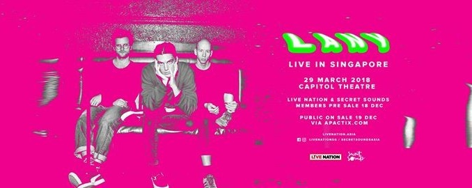 LANY Live in Singapore 2018