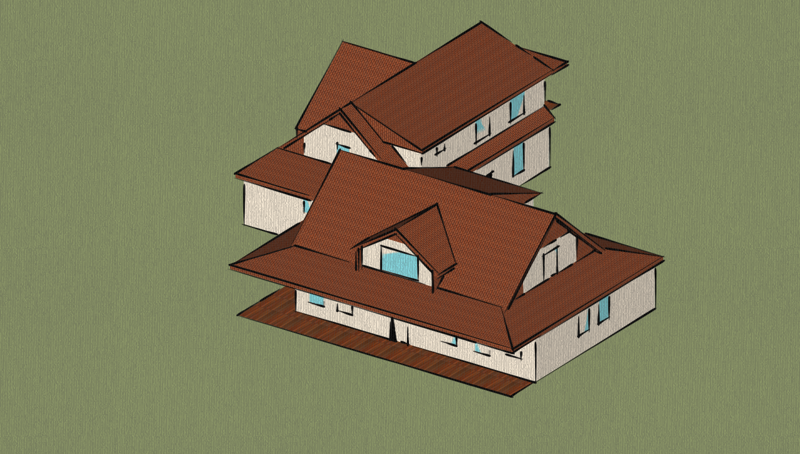 SketchUp model for HERS