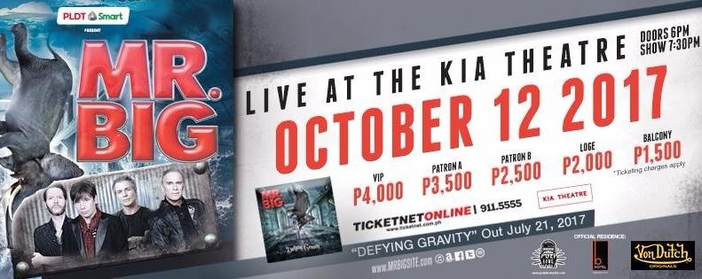 Mr. Big Live in Manila 2017