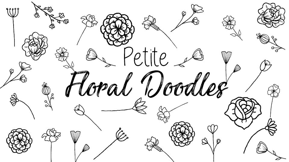 Petite Floral Doodles | The Petite Planner