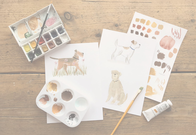 emma block dog painting workshop