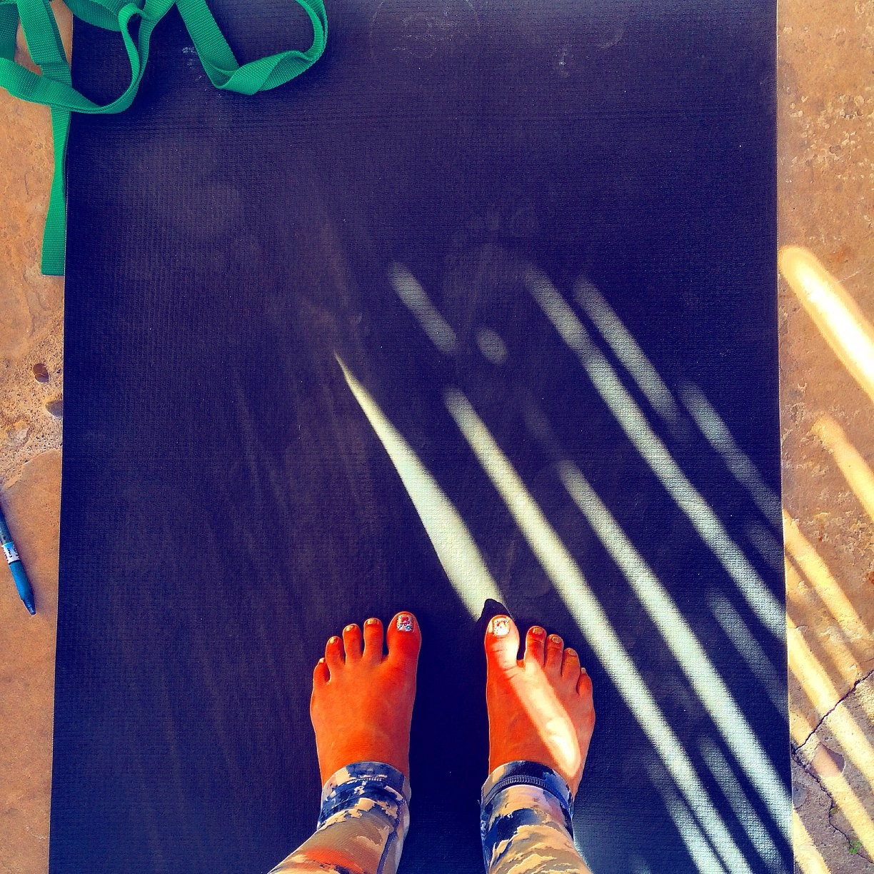 Feet on Mat